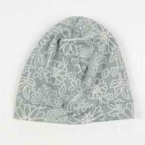 Beanie - Grey Wire Floral