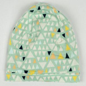 Beanie- Mint Triangle
