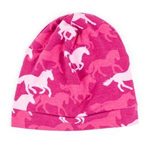 Beanie - Pink Horses