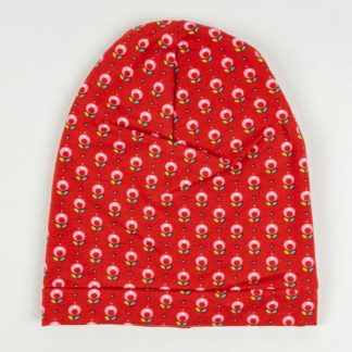 Beanie - Red Flowers