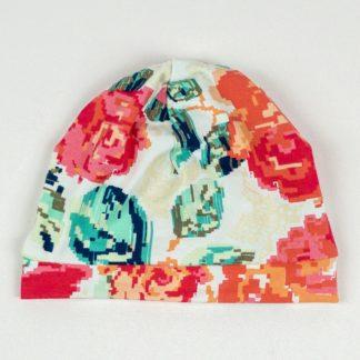 Beanie - Pixel Floral