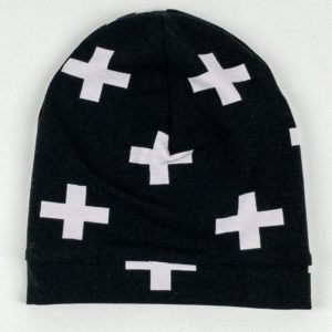 Beanie - Black w/Large Plus