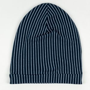 Beanie - Navy Pinstripe