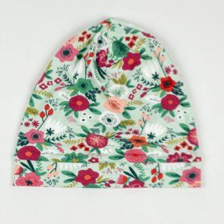 Beanie - Mint Floral