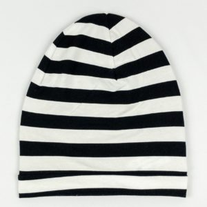 Beanie - B/W Wide Stripe