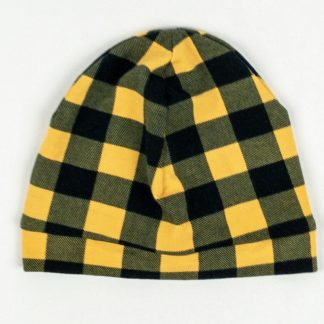 Beanie - Mustard Buffalo Plaid