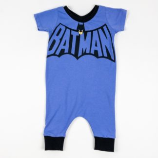 Romper - Purple Batman (3-6M)