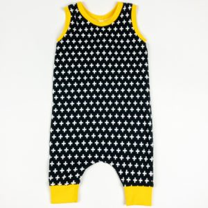 Romper - Black Plus Shorts (12-18M)