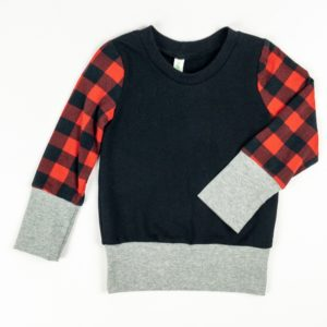 Crew - Black/Buffalo Plaid/Grey