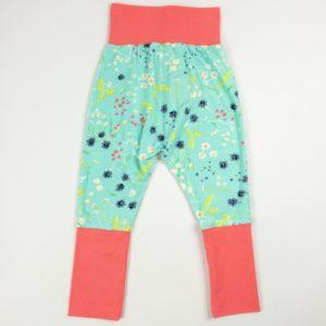 Harem Pants - Aqua Floral/Hot Pink