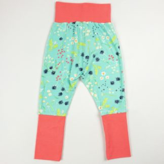 Harem Pants - Aqua Floral/Hot Pink