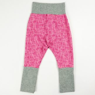 Harem Pants - Pink Sketch/Grey