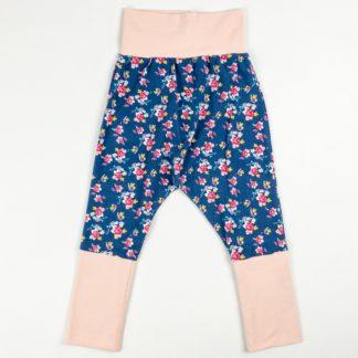 Harem Pants - Denim Floral/Ballet Pink
