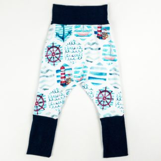Harem Pants - Nautical/Navy