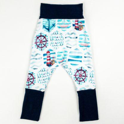 Harem Pants - Nautical/Navy