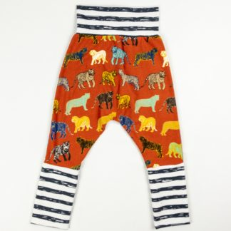 Harem Pants - Tiger/Dark Grey Stripe