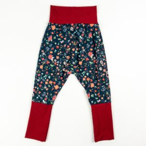 Harem Pants - Green Floral/Wine