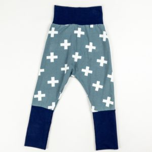 Harem Pants - Grey Plus/Navy