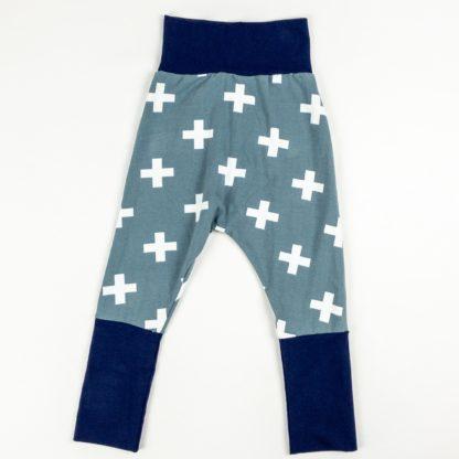 Harem Pants - Grey Plus/Navy