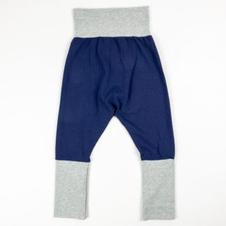 Harem Pants - Navy/Grey