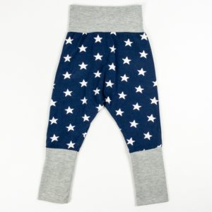 Harem Pants - Navy Stars/Grey