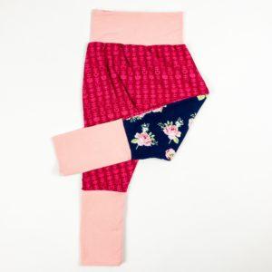 Harem Pants - Floral/Pink Vine