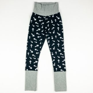 Leggings - Black Arrow/Grey