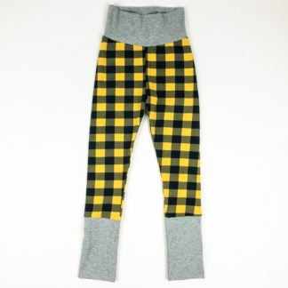 Leggings - Mustard Buffalo Plaid/Grey