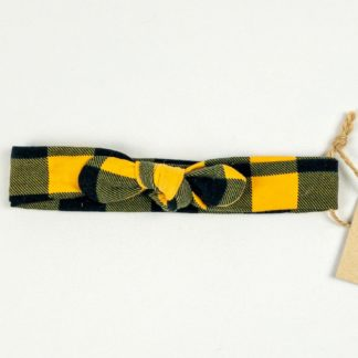 Topknot - Mustard Buffalo Plaid
