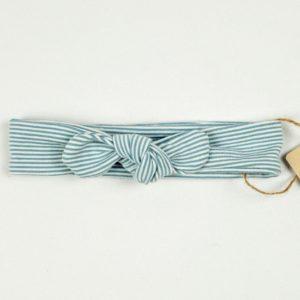 Topknot - Blue Ministripe