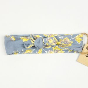 Topknot - Grey/Yellow Floral