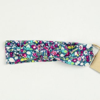 Topknot - Deep Rose/Aqua Floral