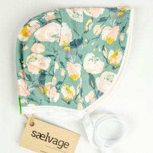 Bonnet - Sage Floral/Ballet Pink