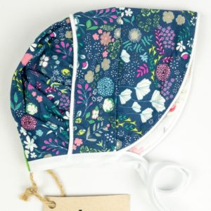 Bonnet - Navy w/Hot Pink Floral/White Floral