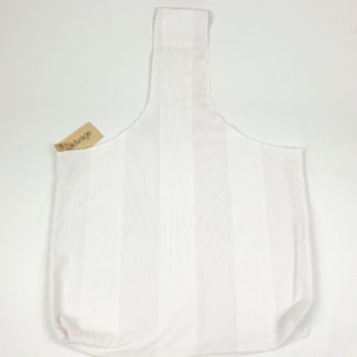 Upcycled Cloth Bag - White/Grey Pinstripe