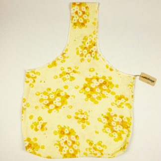 Upcycled Cloth Bag - Vibrant Yellow Floral