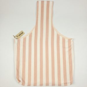 Upcycled Cloth Bag - Pink Stripe