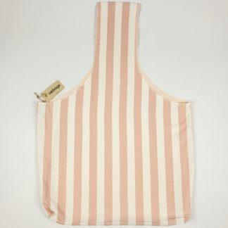 Upcycled Cloth Bag - Pink Stripe