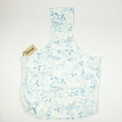 Upcycled Cloth Bag - Pale Blue Floral