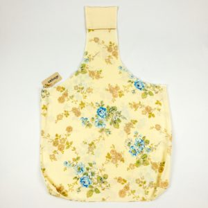 Upcycled Cloth Bag - Cream w/Blue Floral