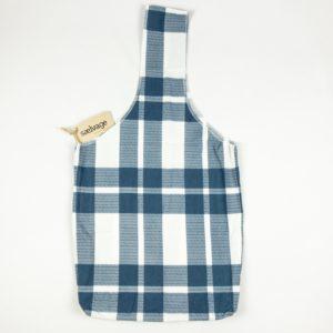Upcycled Cloth Bag - Blue/White Plaid