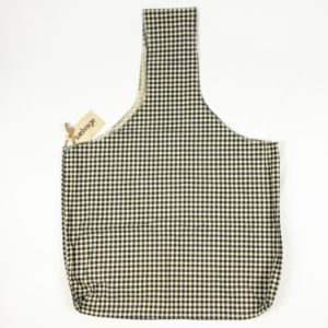 Upcycled Cloth Bag - Black/Tan Check
