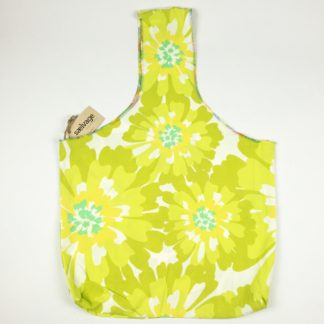 Upcycled Cloth Bag - Vibrant Green Floral