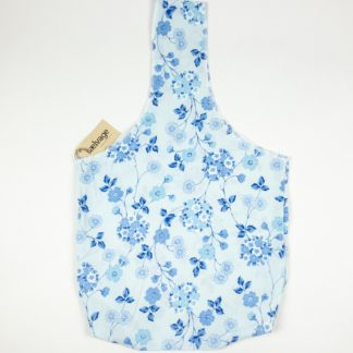 Upcycled Cloth Bag - Vibrant Blue Floral