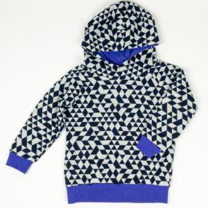 Hoodie - Raglan Navy/Grey/Violet