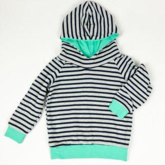 Hoodie - Raglan Navy/Grey/Mint