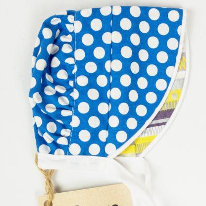 Bonnet - Royal Dot/Yellow Pattern Stripe
