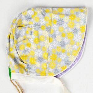 Bonnet - Grey Yellow Daisy/Mauve Floral