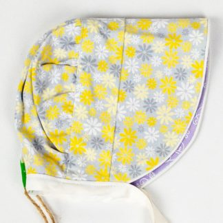 Bonnet - Grey Yellow Daisy/Mauve Floral