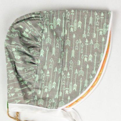 Bonnet - Grey Arrow/Peach Gold Leaf